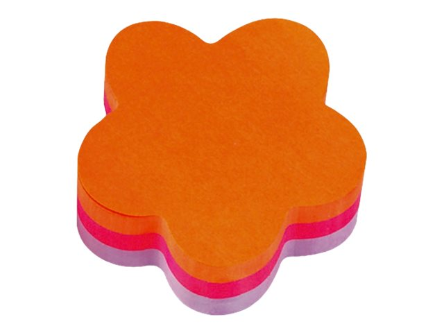 Cube Post-it Forme Fleur - 3 couleurs