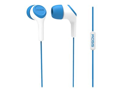 Koss KEB15i Earphones with mic in-ear wired 3.5 mm jack noise isolating blue