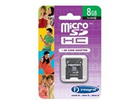 Integral - Carte mémoire flash (adaptateur microSDHC - SD inclus(e)) - 8 Go - Class 4 - microSDHC
