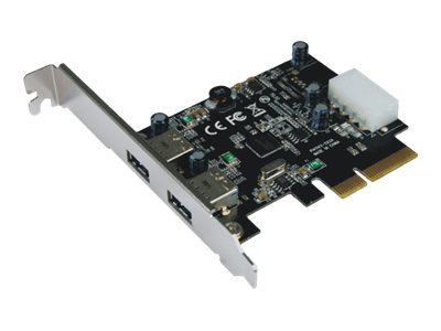 M-CAB - USB-Adapter - PCIe 3.0 x1 / PCIe 2.0 x2 Low Profile - USB 3.1 x 2