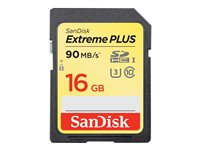 SanDisk Extreme PLUS - Carte mémoire flash - 16 Go - UHS Class 3 / Class10 - SDHC UHS-I
