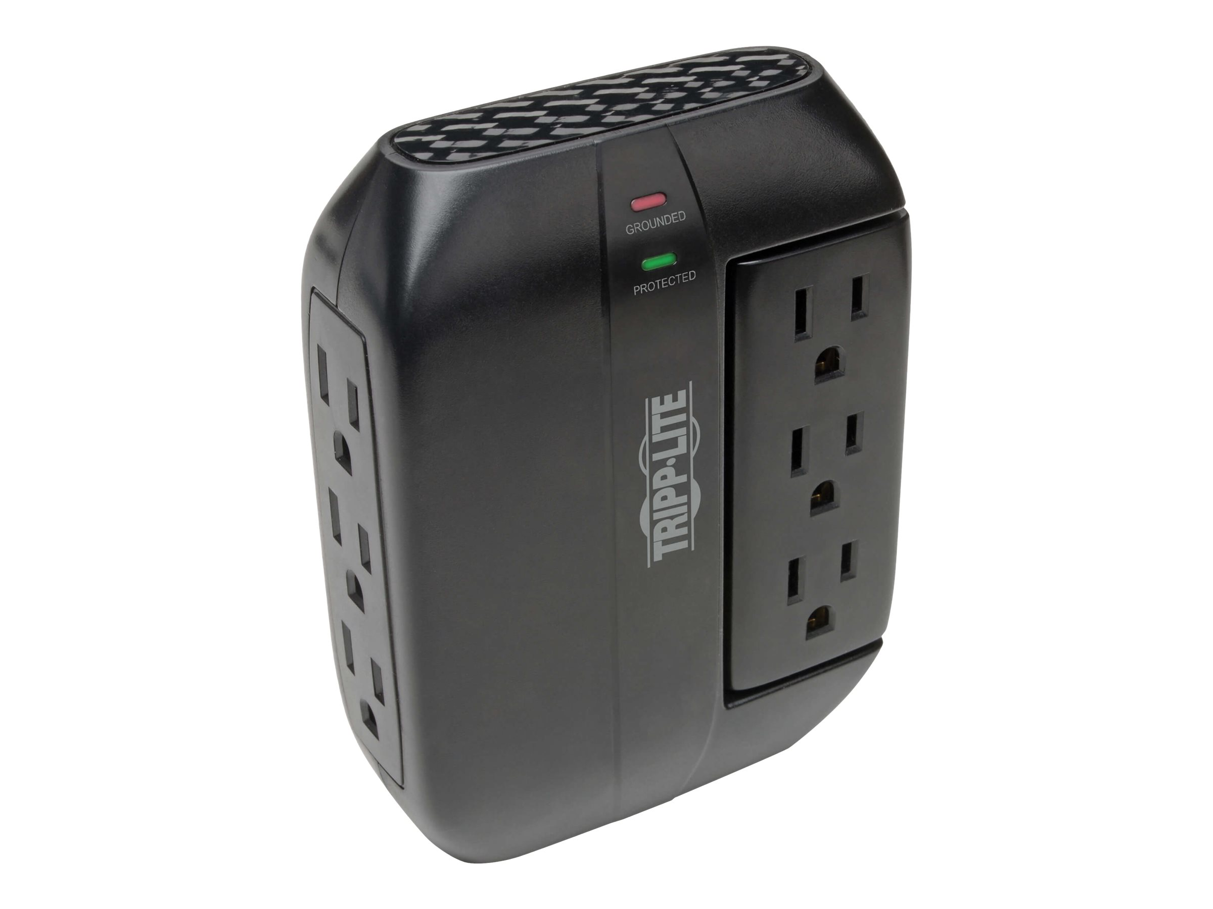 Tripp Lite Surge Protector Swivel 6 Outlet Wallmount Direct Plug In 120V 1200 Joules Black - surge protector