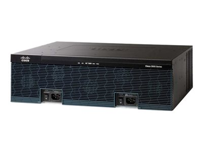Router - voice / fax module - GigE - WAN ports: 3 - rack-mountable
