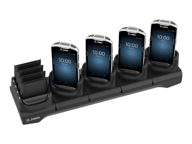 Zebra 5Slot Charge Only Cradle w/Spare Battery Charger - without power supply - handheld charging stand + battery charg…
