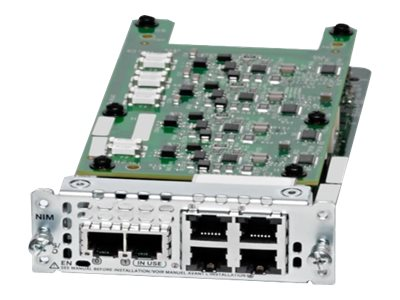 Cisco Network Interface Module - Expansion module - FXS/DID x 2 + FXO x 4 - for Cisco 4451-X; Integrated Services Router 4221, 4321, 4331, 4351, 4431