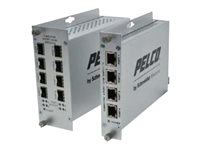 Pelco FUMS-FTX8 Switch unmanaged 8 x 100Base-FX rack-mountable DC power