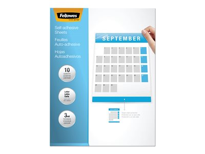 Fellowes 3 mil 10-pack clear 9.25 in x 12 in glos