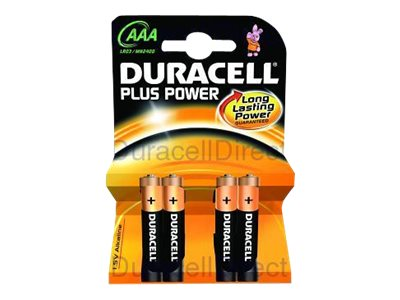 Duracell Plus Power MN2400 - Batterie 4 x AAA-Typ Alkalisch