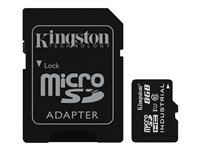 Kingston - Carte mémoire flash (adaptateur microSDHC - SD inclus(e)) - 8 Go - UHS Class 1 / Class10 - microSDHC UHS-I