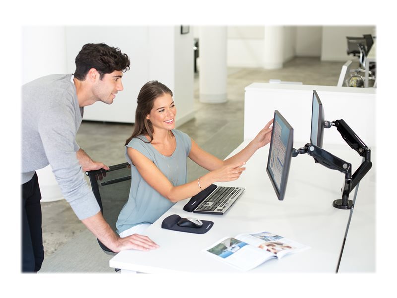 Fellowes Platinum Series Dual Monitor Arm - montage sur bureau (bras réglable)