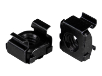 StarTech.com M6 Cage Nuts - 50 Pack, Black - M6 Mounting Cage Nuts for Server Rack & Cabinet (CABCAGENUT6B) - Cage nuts - black (pack of 50) - for P/N: RK12WALLO, RK12WALLOA, RK15WALLO, RK15WALLOA, RK4236BKB, RK4242BK30, RKQMCAB12V2