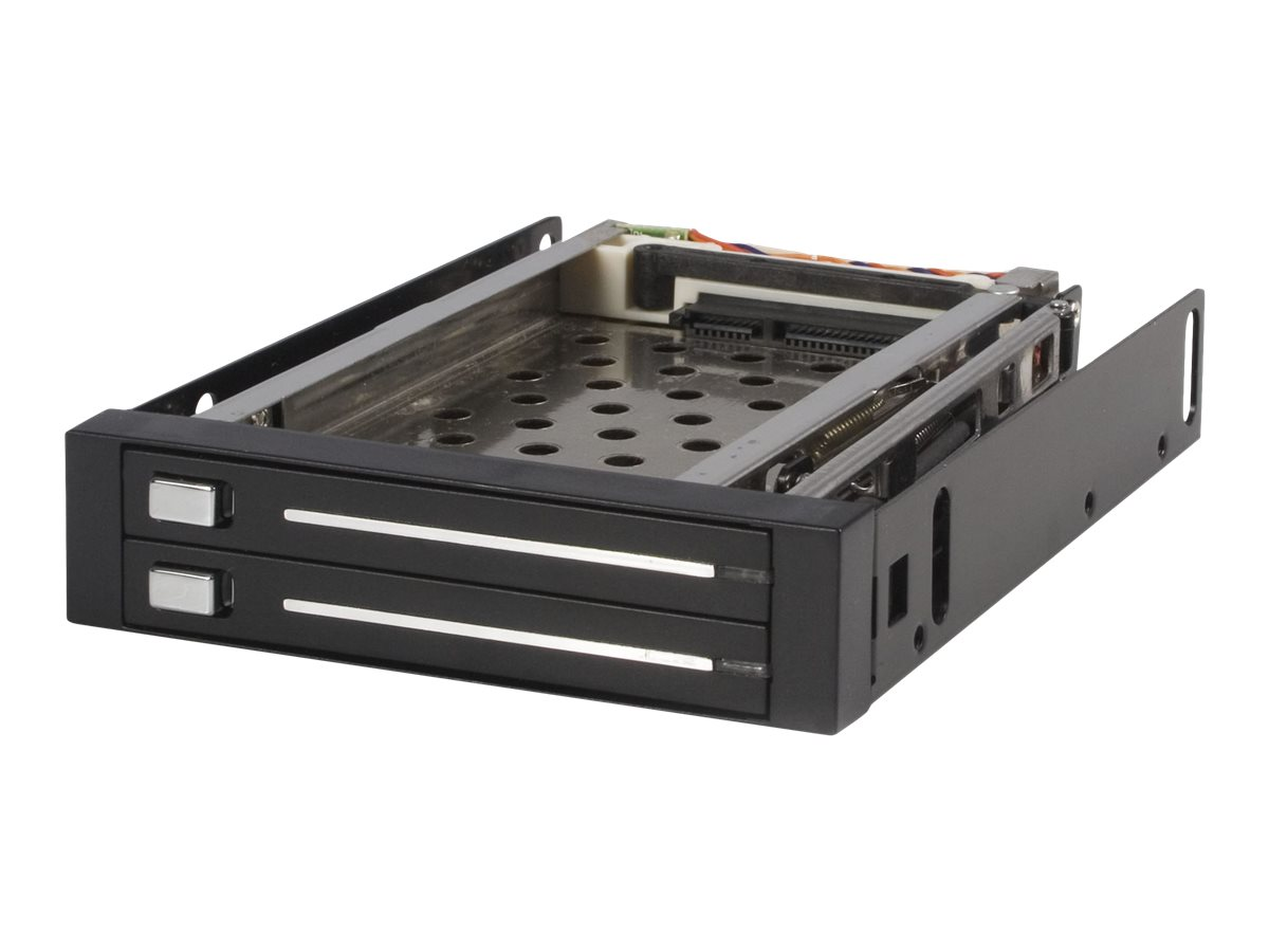 StarTech.com 2 Drive 2.5in Trayless Hot Swap SATA Mobile Rack Backplane - Dual Drive SATA Mobile Rack Enclosure for 3.5…