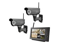 VALUE 4CH Digital Wireless Camera Set, with Internet functionality - Monitor + Kamera(s)