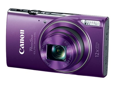 Canon PowerShot ELPH 360 HS Digital camera compact 20.2 MP 1080p / 29.97 fps