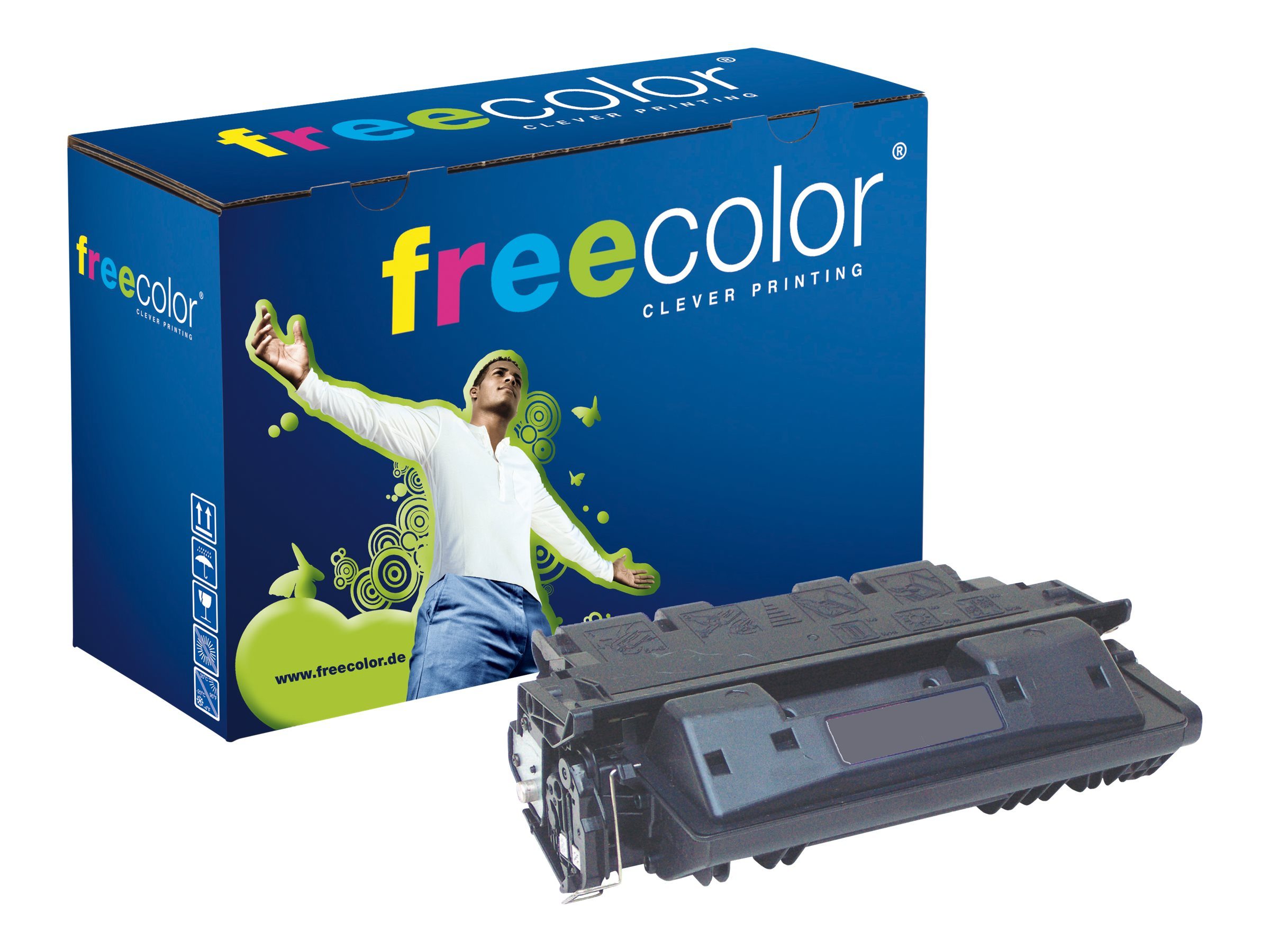 FREECOLOR - 500 g - Schwarz - Tonerpatrone (Alternative zu: HP 61X) - für HP Envy 5535; LaserJet 4100, 4100dtn, 4100mfp, 4100n, 4100tn, 4101mfp