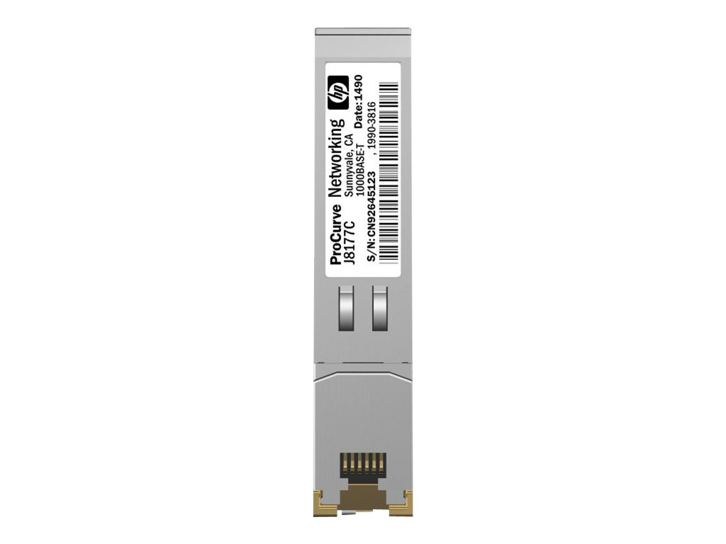 HPE X120 - SFP (Mini-GBIC)-Transceiver-Modul - Gigabit Ethernet - 1000Base-T - RJ-45 - für HP 3100; HPE 10512, 12504, 1910, 3100, 3600, 5500, 5920, 7506; FlexFabric 1.92, 11908