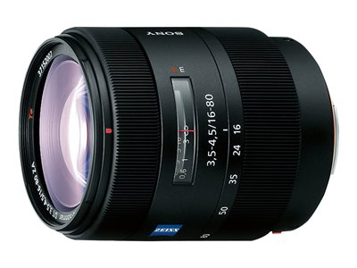 Sony SAL1680Z Zoom lens 16 mm 80 mm f/3.5-4.5 Vario-Sonnar T* Sony A-type