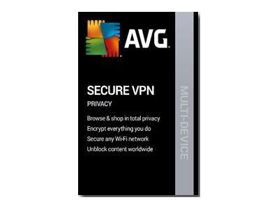 AVG Secure VPN 2020 Subscription license (1 year) 5 devices ESD Win,