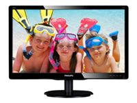 "Philips V-line 200V4LAB2 - Écran LED - 20"" (19.5"" visualisable) - 1600 x 900 - 200 cd/m² - 600:1 - 5 ms - DVI-D, VGA - haut-parleurs - noir texturé, noir brillant"