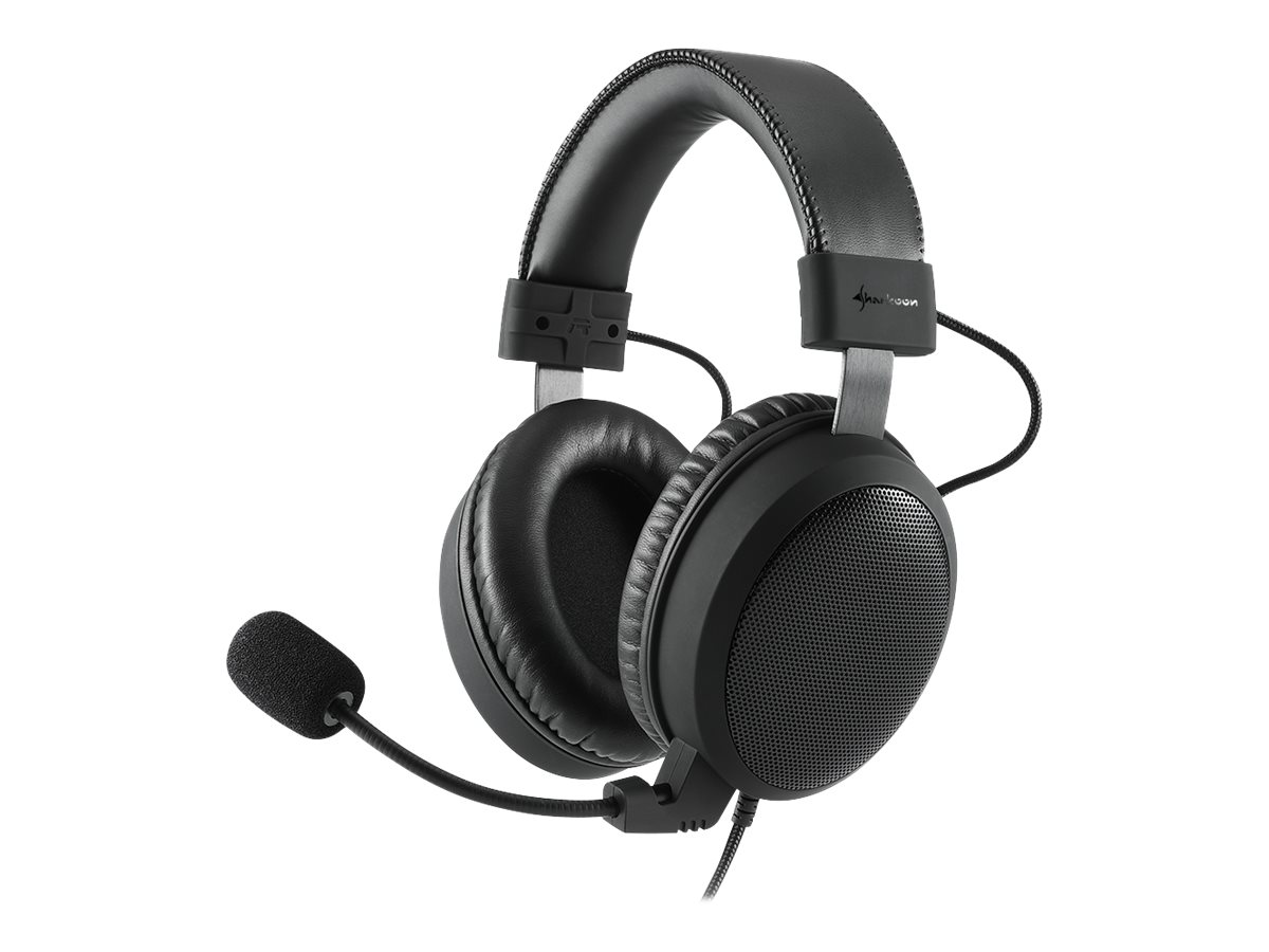 Sharkoon B1 - Headset - Full-Size - verkabelt - 3,5 mm Stecker - Jet Black