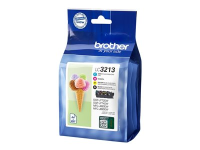 Brother LC 3213 Sort Gul Cyan Magenta 400 sider