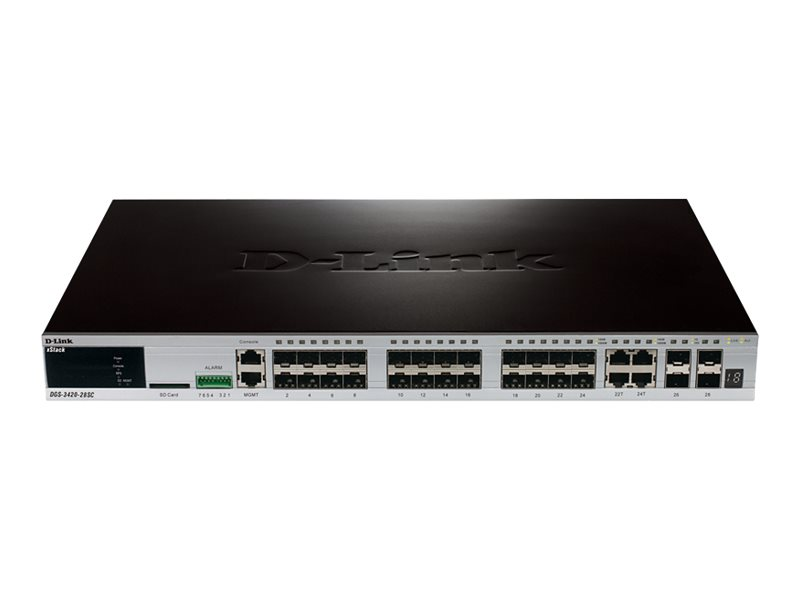 D-Link xStack DGS-3420-28SC - switch - 28 ports - managed - rack-mountable