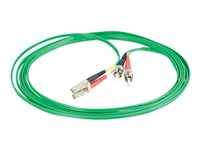 C2G 1m LC-ST 62.5/125 OM1 Duplex Multimode PVC Fiber Optic Cable Green Patch cable