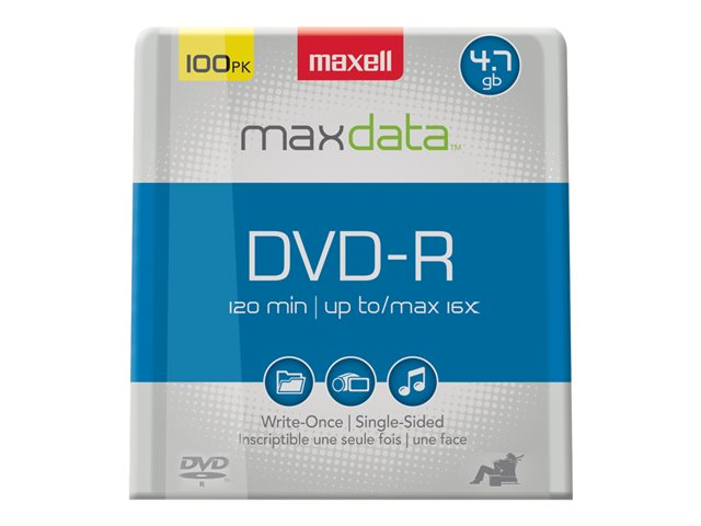 Maxell - 100 x DVD-R (G) - 4.7 Go 16x - spindle