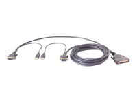 Picture of Belkin OmniView Dual Port Cable, USB - keyboard / video / mouse (KVM) cable - 3.7 m - B2B (F1D9401-1