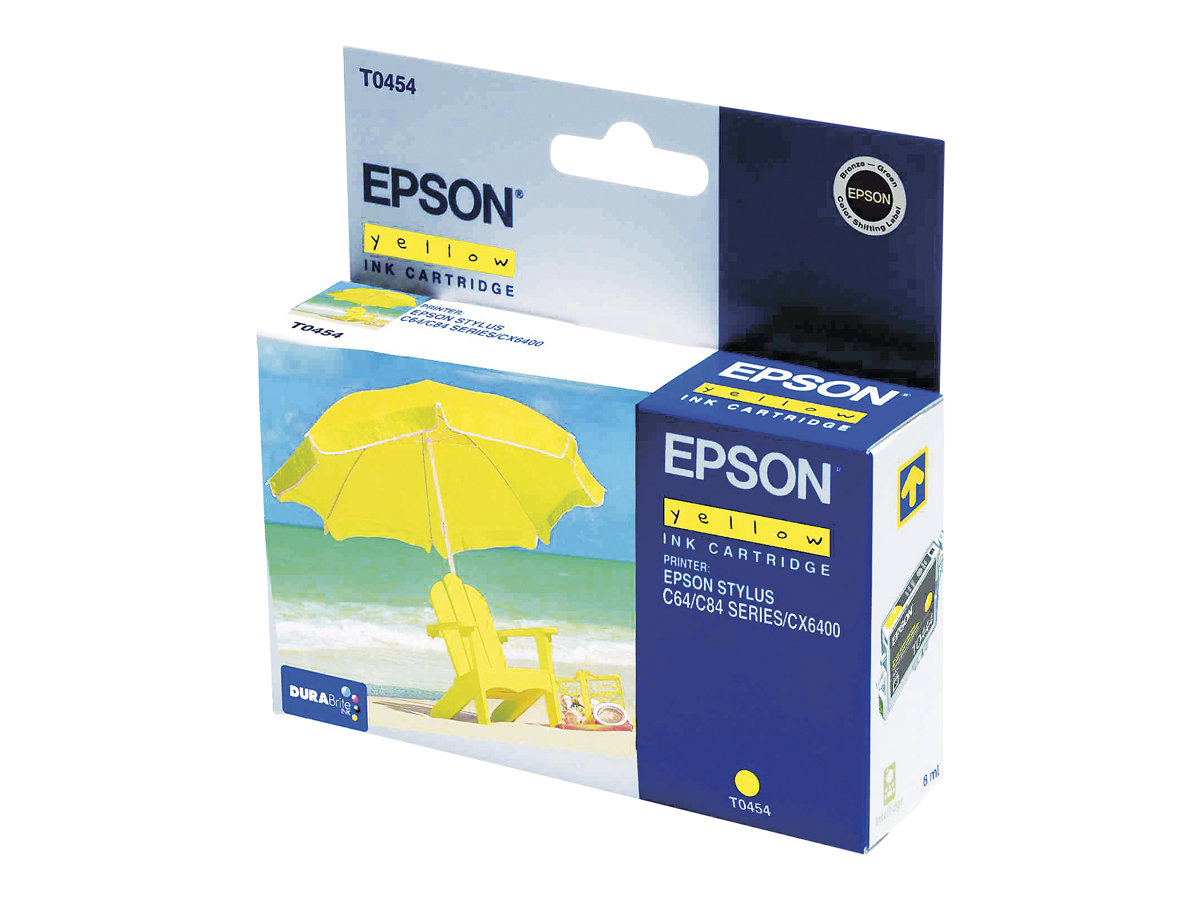 epson t0454 parasol jaune originale cartouche d. Black Bedroom Furniture Sets. Home Design Ideas
