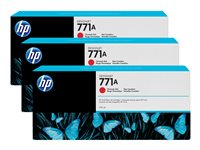 HP 771A Tri-pack 3-pack 775 ml chromatic red original ink cartridge