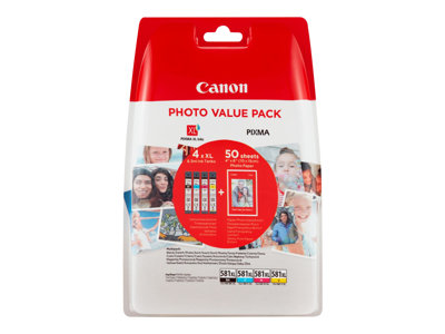 Canon CLI 581XL /BK Photo Value Pack Sort Gul Cyan Magenta