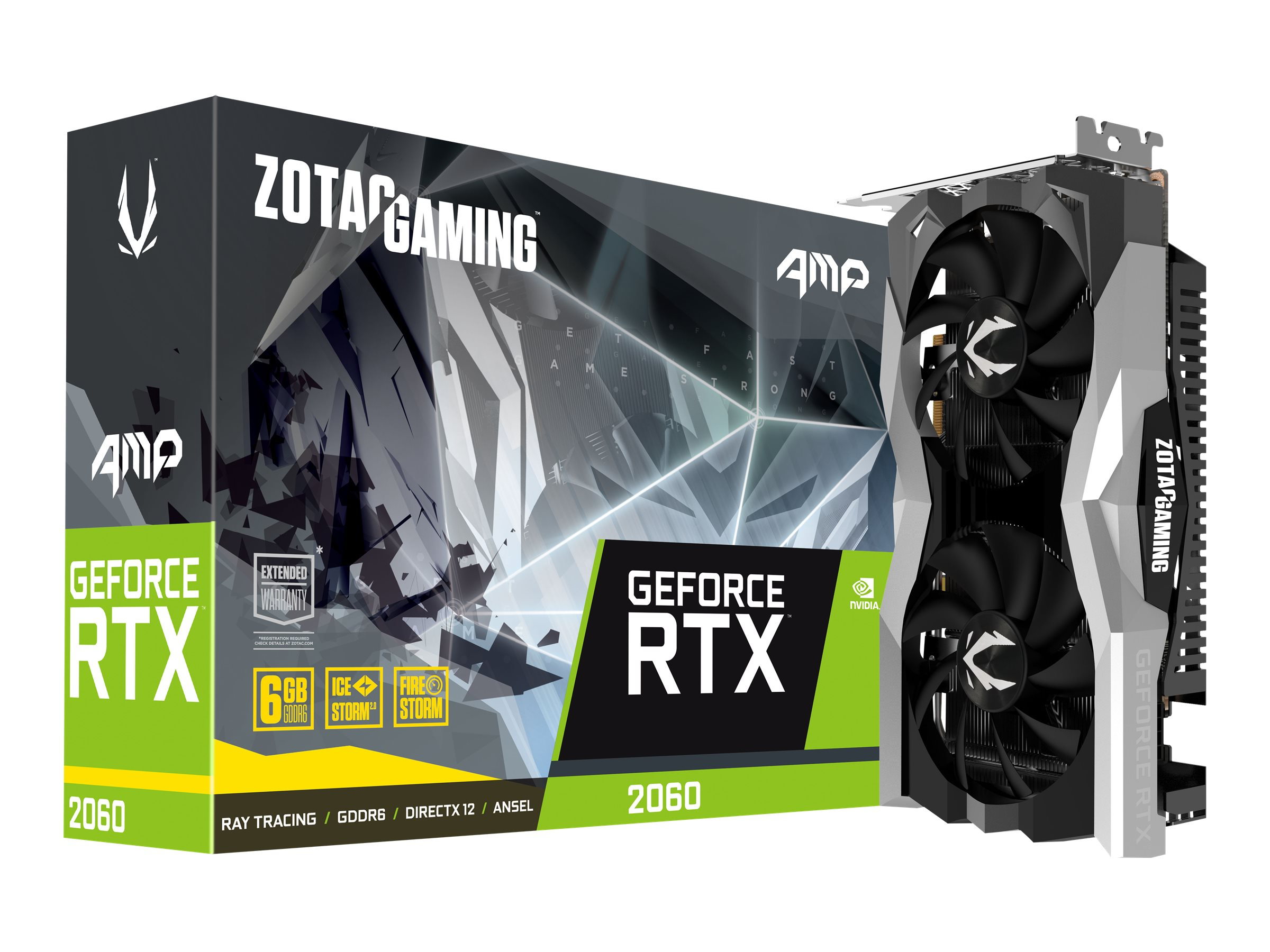 ZOTAC GAMING GeForce RTX 2060 AMP - graphics card - GF RTX 2060 - 6 GB