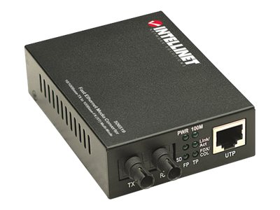 Intellinet - Medienkonverter - 100Mb LAN - 10Base-T, 100Base-FX, 100Base-TX - bis zu 2 km - 1310 nm