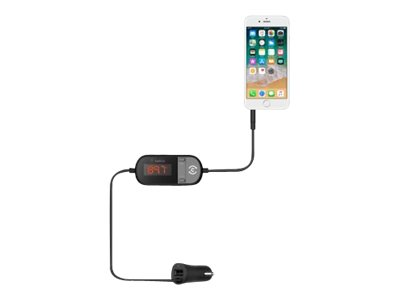 Belkin TuneCast In-Car 3.5mm to FM Transmitter - FM transmitter / power adapter for cellular phone, car audio