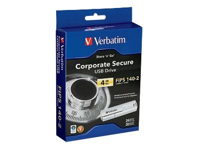 Verbatim Store 'n' Go Corporate Secure USB Drive - FIPS Edition - USB flash drive - 4 GB