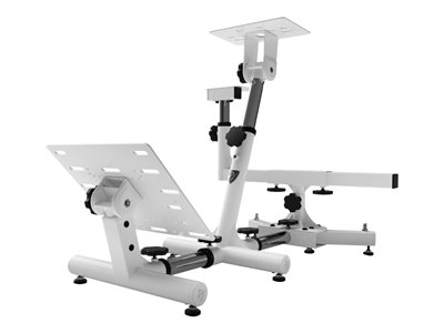 Arozzi Velocità Gaming chair wheel/pedals stand metal white