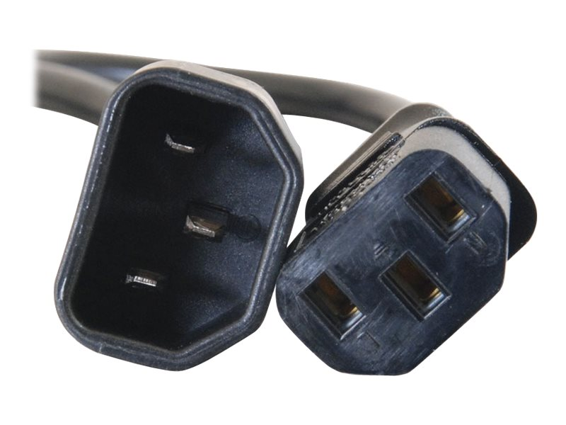 C2G 12ft 18 AWG Computer Power Extension Cord IEC320C14 to IEC320C13 TAA - power extension cable - 3.7 m