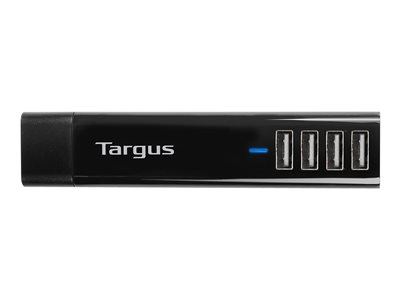 Targus 4 Way USB Interchangeable AC Plugs Tablet Charger Black