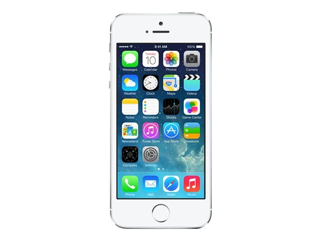 Apple iPhone 5s - silver - 4G - 16 GB - GSM - smartphone