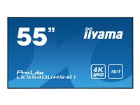 "Iiyama ProLite LE5540UHS-B1 - 55"" Class (54.6"" viewable) LED display"