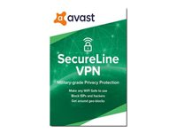 Avast SecureLine VPN 2020 Subscription license (1 year) 5 devices ESD