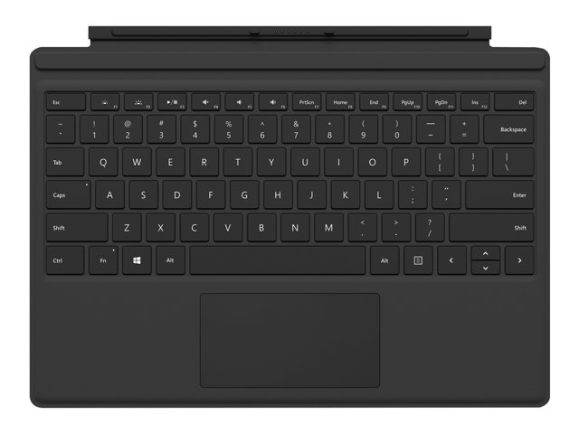 Image of Microsoft Surface Pro Type Cover (M1725) - keyboard - with trackpad, accelerometer - British - black
