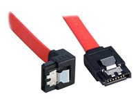Lindy - SATA cable - Serial ATA 150/300 - SATA (F) to SATA (F) - 50 cm - 90° connector, latched, right-angled connector
