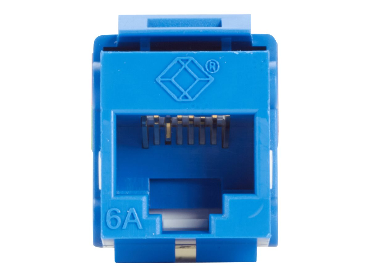 Black Box GigaTrue2 CAT6A Keystone Jack - Unshielded - modular insert