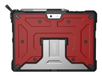 UAG Metropolis Series Rugged Case for Microsoft Surface Go - Magma - Back cover for tablet - rugged - aluminium - magma - for Microsoft Surface Go