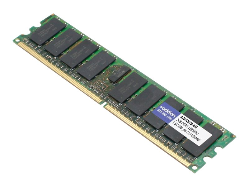 AddOn - DDR3 - 2 GB - DIMM 240-pin - unbuffered