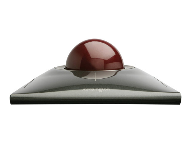 Image of Kensington SlimBlade Trackball - trackball - USB - Ruby Red, metalic silver
