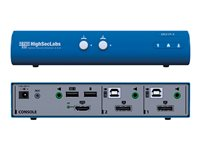 HighSecLabs Secure SK21P-3 KVM / audio / USB switch 2 x KVM / audio / USB 1 local user