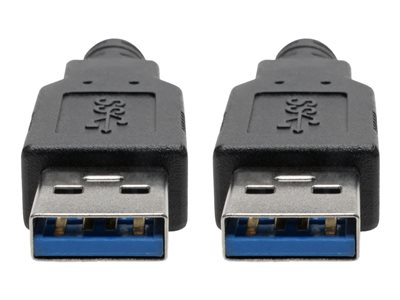 Tripp Lite USB 3.0 SuperSpeed A/A Cable for Tripp Lite USB 3.0 All-in-One Keystone/Panel Mount Couplers (M/M), Black, 6 ft.